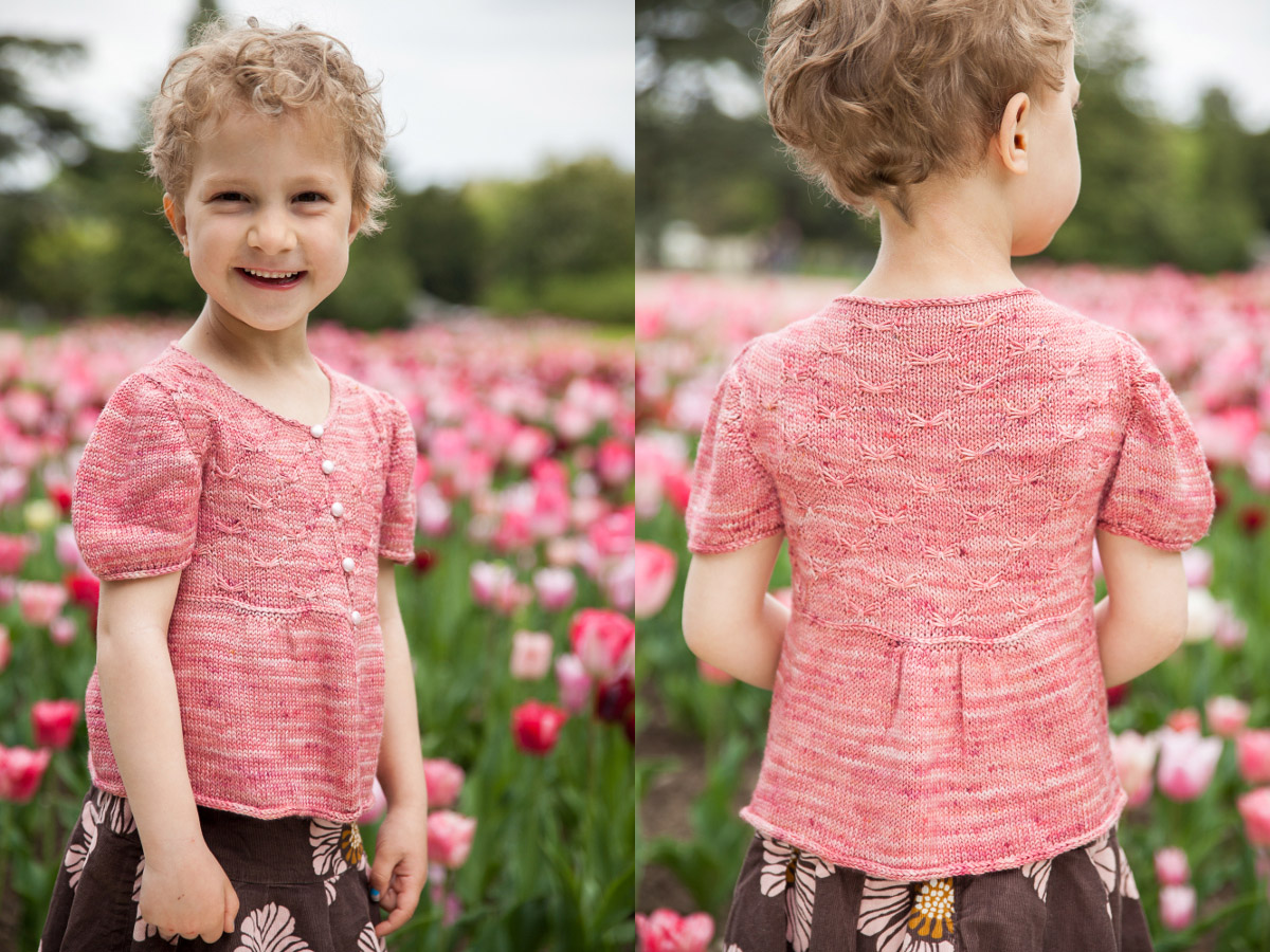 Gilet enfant Sweet Butterfly 4-12a - explications tricot