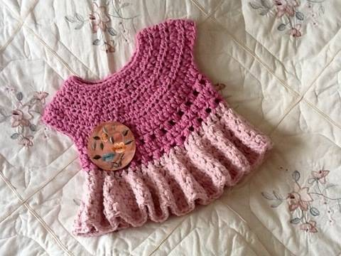 Little Diane Crocheted Dress