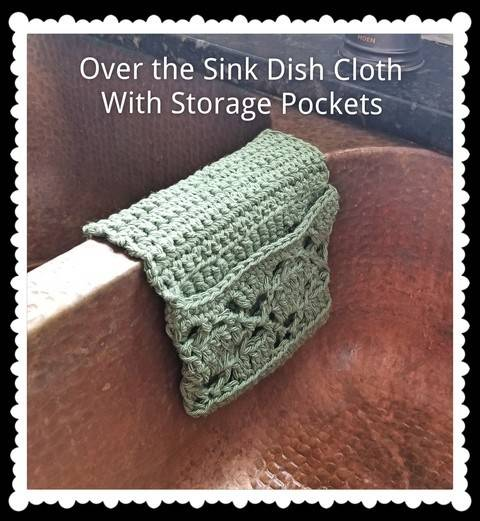 Pocketed Over the Sink Dishcloth