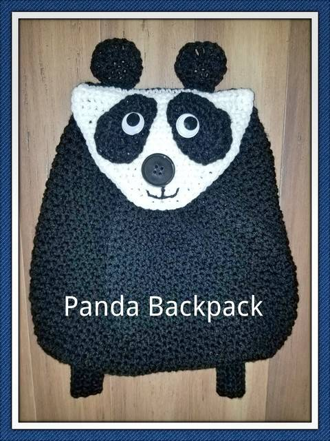 Toddler Panda Backpack at Makerist
