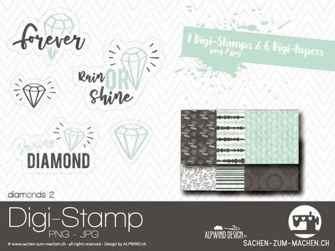 """Digi-Stamp """"diamonds #2"""""""