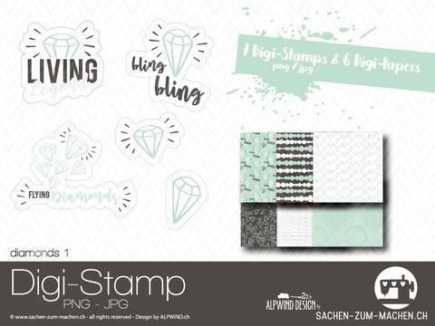 "Digi-Stamp ""diamonds"" #1 bei Makerist"