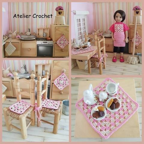 """""""My doll's kitchen"""" pattern for any 32-34 cm doll at Makerist"""