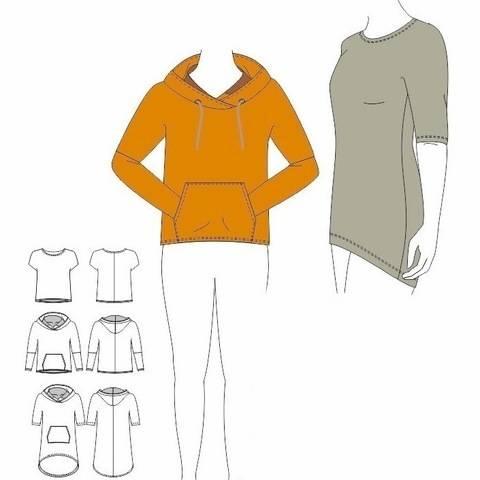 Shirt / Tunika / Hoodie LOLA - Gr. 32 - 50 bei Makerist