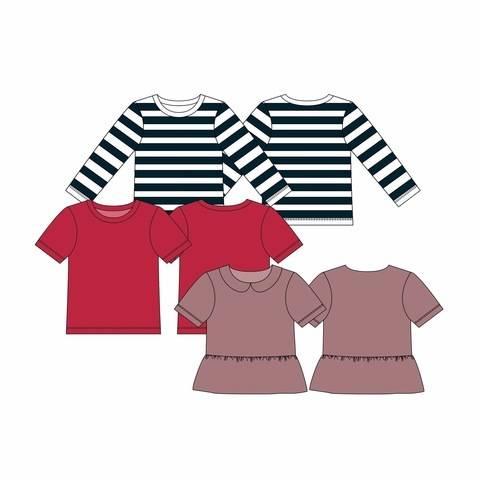 Shirt AVVA Mädchen - Gr. 44-104 bei Makerist