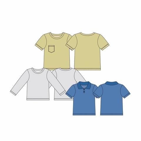 Shirt LUKKE Jungs - Gr. 44-104 bei Makerist