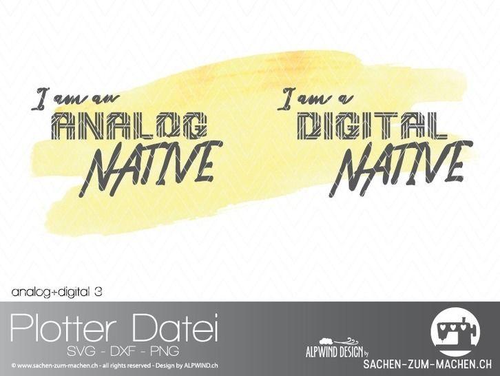 "Plotter-Datei ""analog+digital"" #3 bei Makerist - Bild 1"