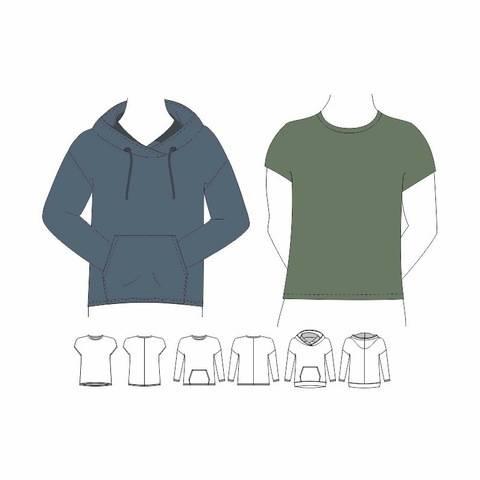 Shirt / Hoodie LENN Gr. 44 - 60 (S-XXL)