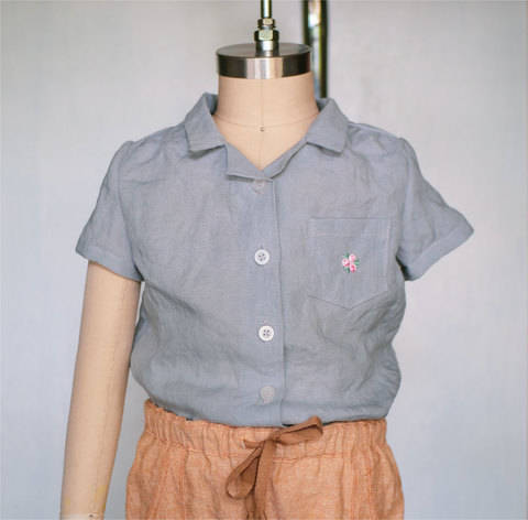 Camp Collar Blouse Button Up