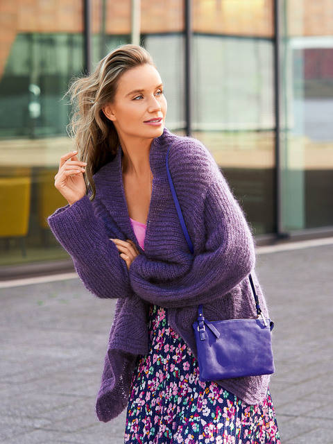 Patentjacke in Violett bei Makerist