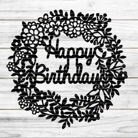 Birthdaykranz SVG DXF Plotterdatei