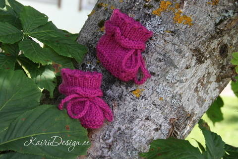 Baby Born booties knitting pattern