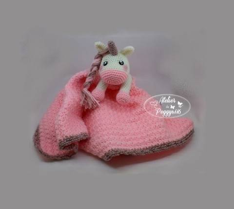 Lovey Unicorn security blanket at Makerist
