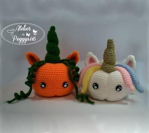 Pumpkin Unicorn (2 versions) at Makerist