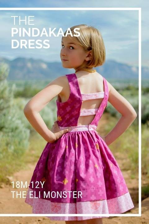 The Pindakaas Dress Sewing Pattern, Sized 18m-12y at Makerist