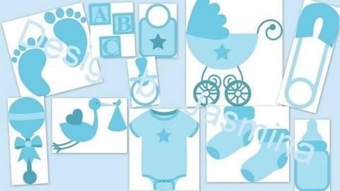 Plotterdatei  SVG, Baby, Junge, Geburt, Taufe bei Makerist