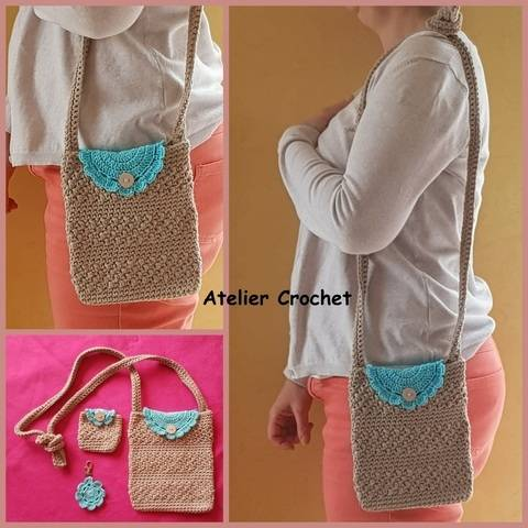 """Small Summer Bag"" crochet pattern at Makerist"