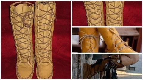 SIZE 12 MEN'S  [Moccasins Boot Pattern]  at Makerist