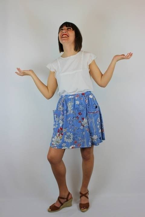 Leda PDF sewing pattern-skirt-38 to 50 italian size at Makerist