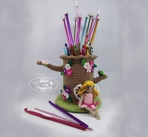 Pot à crochets féerique chez Makerist