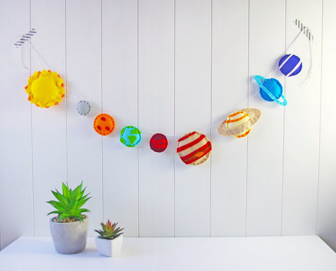 Felt Planets Garland Printable PDF Pattern at Makerist - Image 1