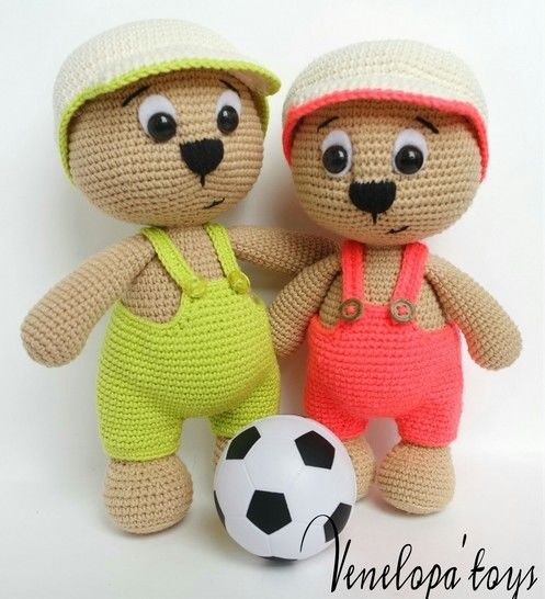 Amigurumi Bear with Cap crochet Pattern  at Makerist - Image 1