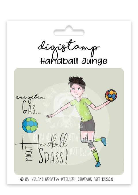 Digistamp/Digipapier-Yela`s Kreativ-Atelier- Handballer