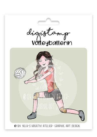 Digistamp/Digipapier-Yela`s Kreativ-Atelier- Volleyballerin bei Makerist - Bild 1