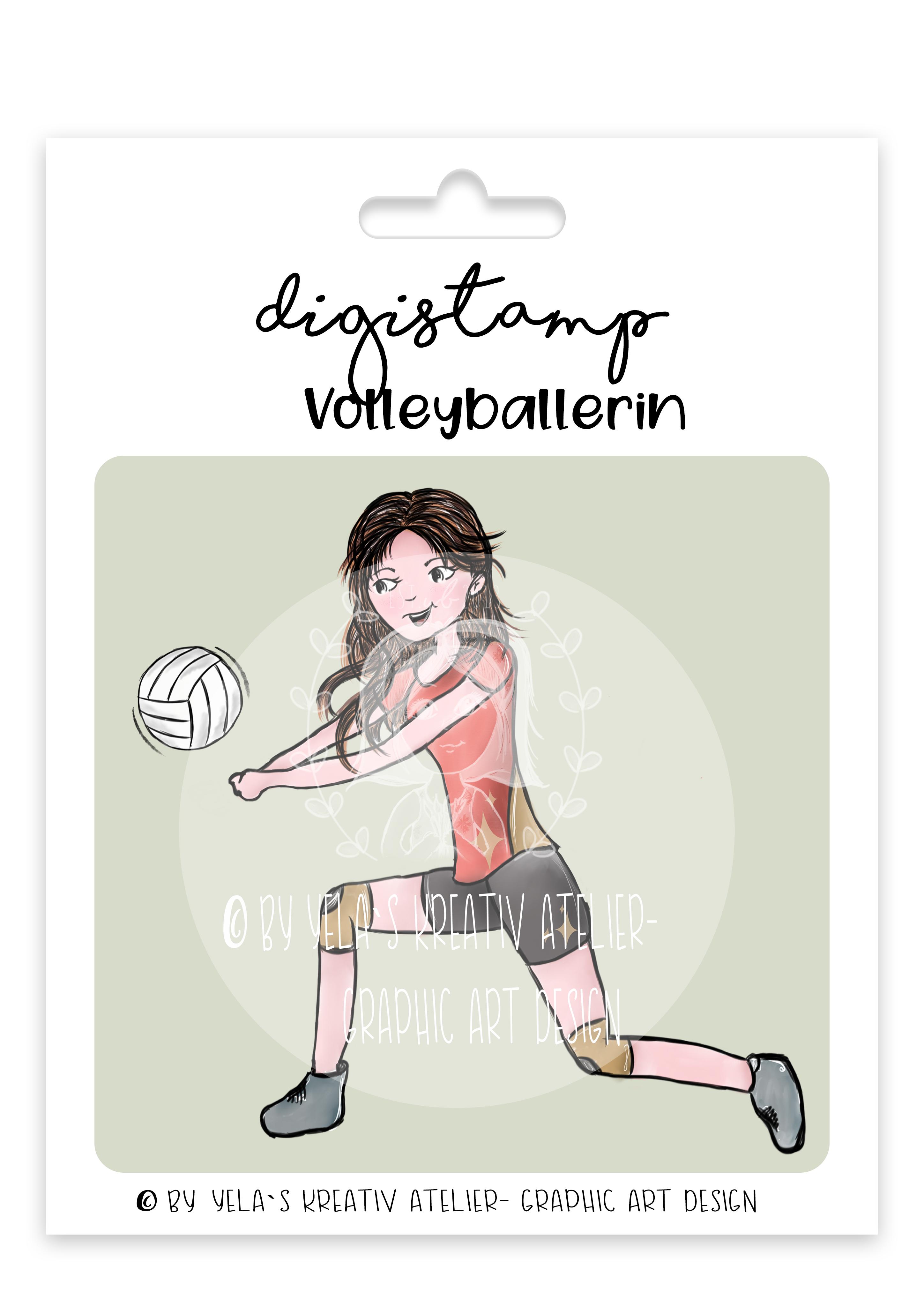 Digistamp/Digipapier-Yela`s Kreativ-Atelier- Volleyballerin