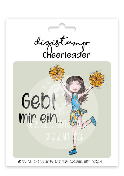 Digistamp/Digipapier-Yela`s Kreativ-Atelier- Cheerleader