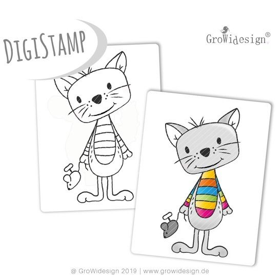 Kater TOM DigiStamp bei Makerist - Bild 1