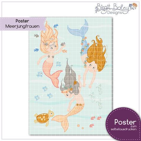 Birgit Boley Designs • Poster Meerjungfrauen