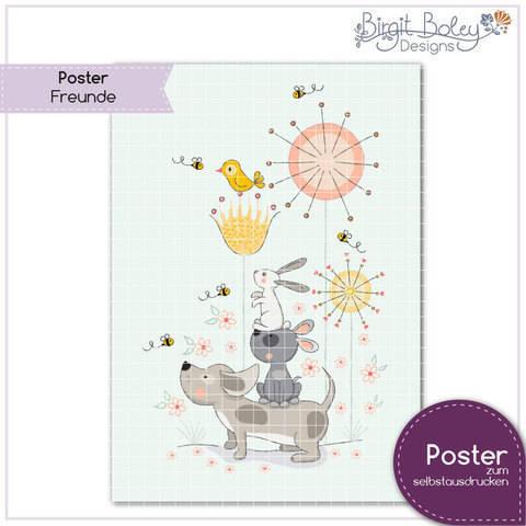 Birgit Boley Designs • Poster Freunde