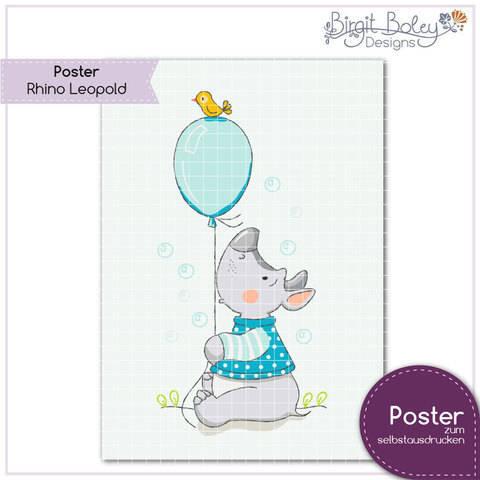 Birgit Boley Designs • Poster Rhino Leopold