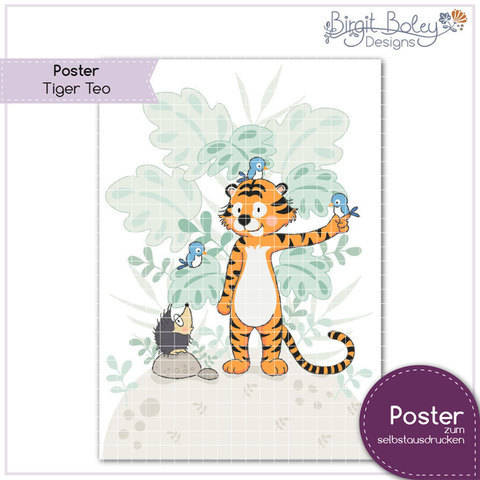 Birgit Boley Designs • Poster Tiger Teo