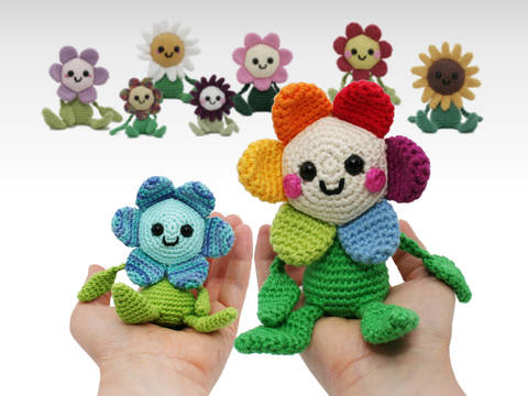 Happy Little Flower - Crochet Pattern at Makerist
