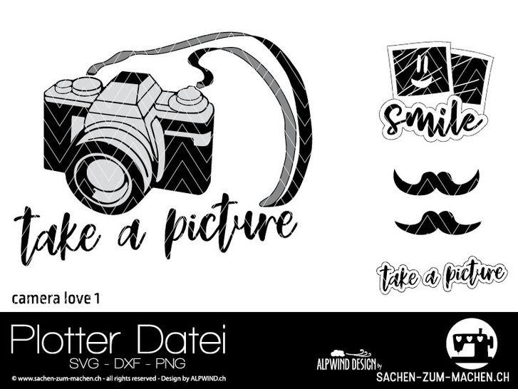 """Plotter-Datei """"camera love"""" #1 bei Makerist - Bild 1"""
