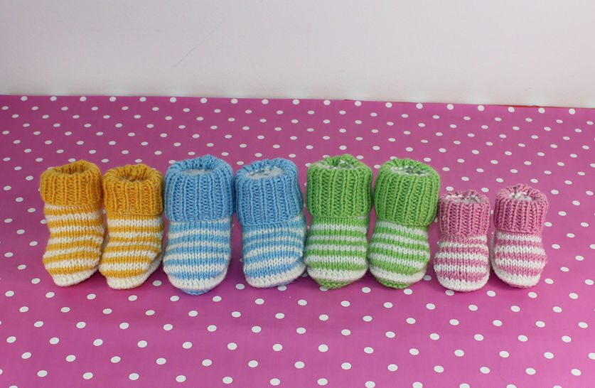 Baby Easy Stripe Booties at Makerist - Image 1
