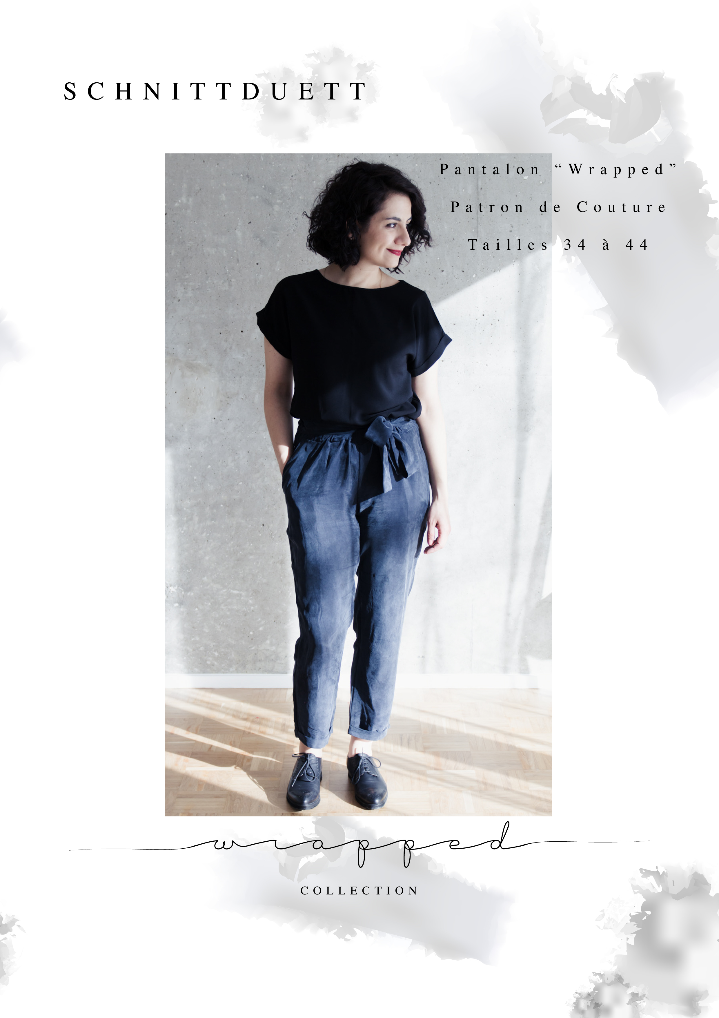 """Pantalon """"Wrapped"""" - Patron de Couture PDF"""