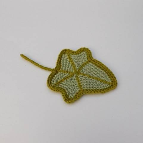 Small Crochet Ivy Leaf Pattern, Crocheted Leaf