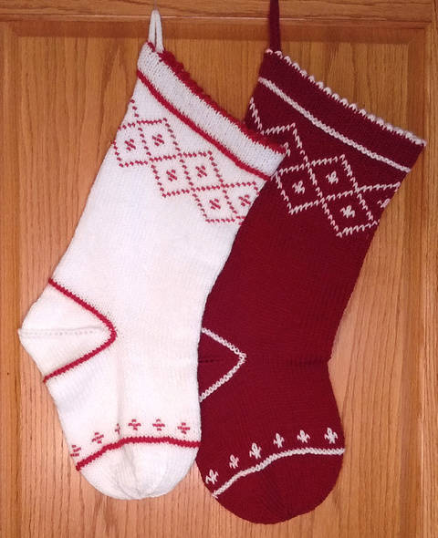 Christmas Stocking Beaded Stranded PDF Knitting Pattern at Makerist