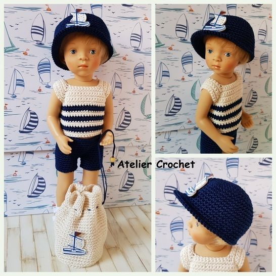 """A little Sailor"" crochet pattern for Minouche doll at Makerist - Image 1"