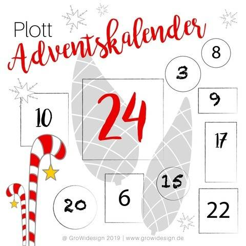 Adventskalender 2019 Plotterdateien bei Makerist