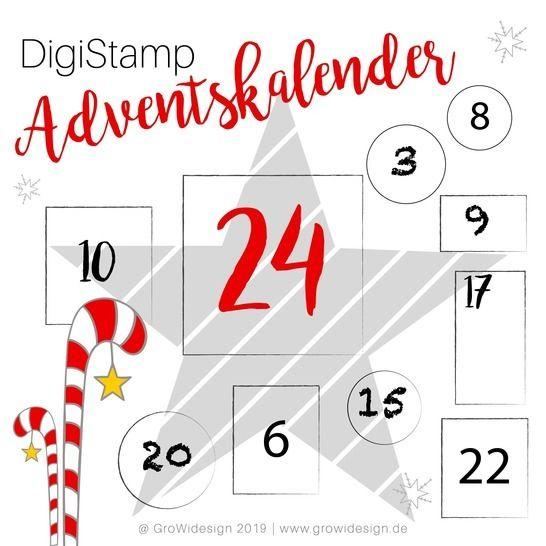 Adventskalender 2019 DigiStamp bei Makerist - Bild 1