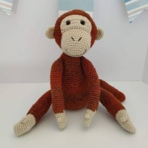 Amigurumi - Mango the acrobat monkey - crochet – tutorial
