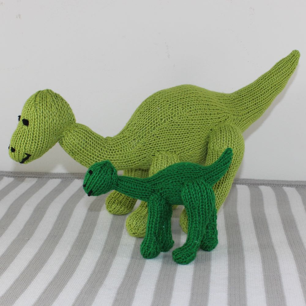 Cute Mother and Bay Dinosaur Toys