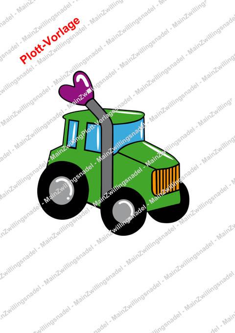 Main kleiner Traktor - Plottvorlage bei Makerist