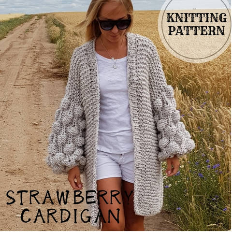 Strawberry Bubbles Sleeve Cardigan at Makerist