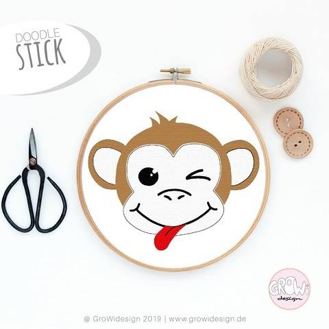 Monkey Stickdatei bei Makerist