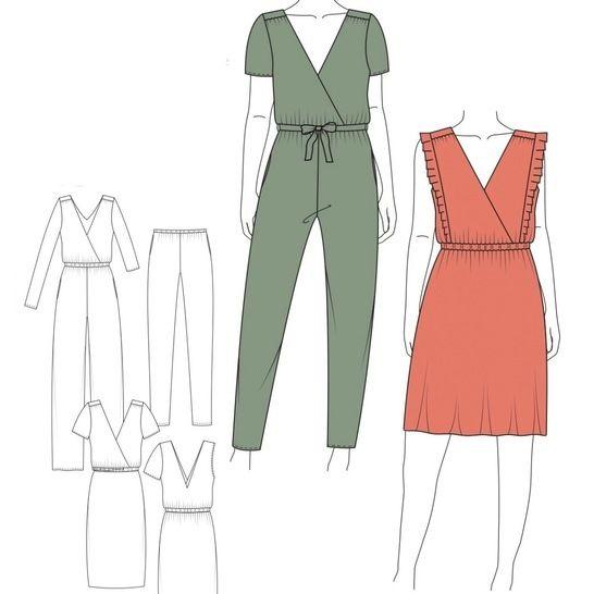 Jumpsuit & Kleid TESSA - Gr. 32 - 52 bei Makerist - Bild 1